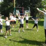 10.Разминка с гимнастическими палками